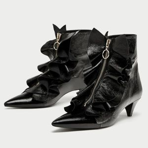 NWT Zara heels ankle boots leather shoes 109$